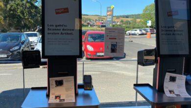 In der neuen T-Box können Shopper an Self-Checkout-Terminals von Pan Oston scannen und bezahlen.