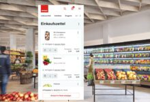 Photo of M-Preis shows shoppers the assortment of its stores online