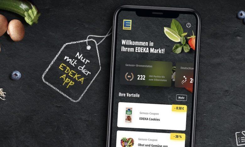 Die Edeka App integriert jetzt Einkaufsfunktionen wie das Bonusprogramm Genuss+, mobiles Zahlen oder Self-scanning auf den Smartphones ihrer Kunden. (Foto: Edeka)