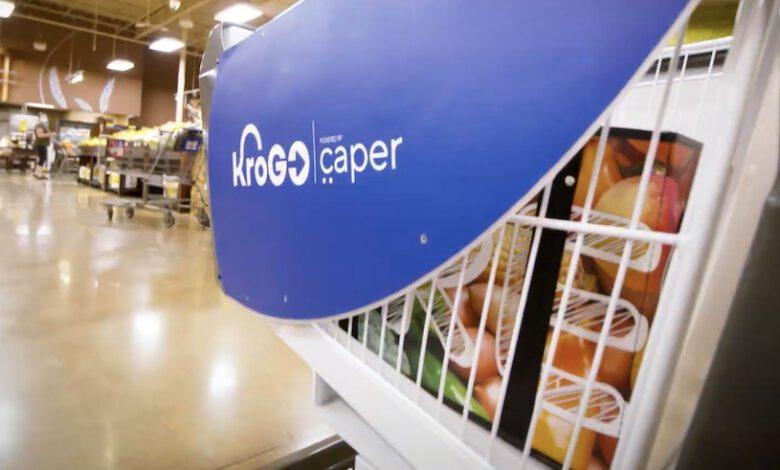 Bild von Kroger pilotiert intelligenten Einkaufswagen von Caper