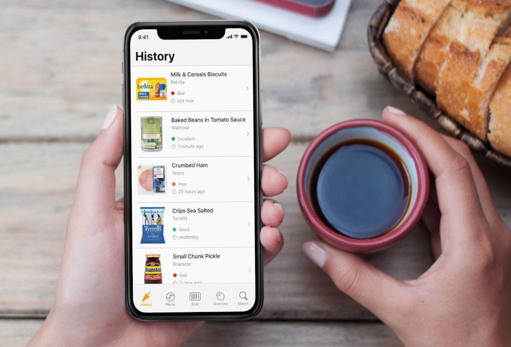 FMCG manufacturers can automatically transfer up-to-date, complete and correct data from the Alkemics platform to the Yuka nutrition app via an interface. (Photo: Yuka)