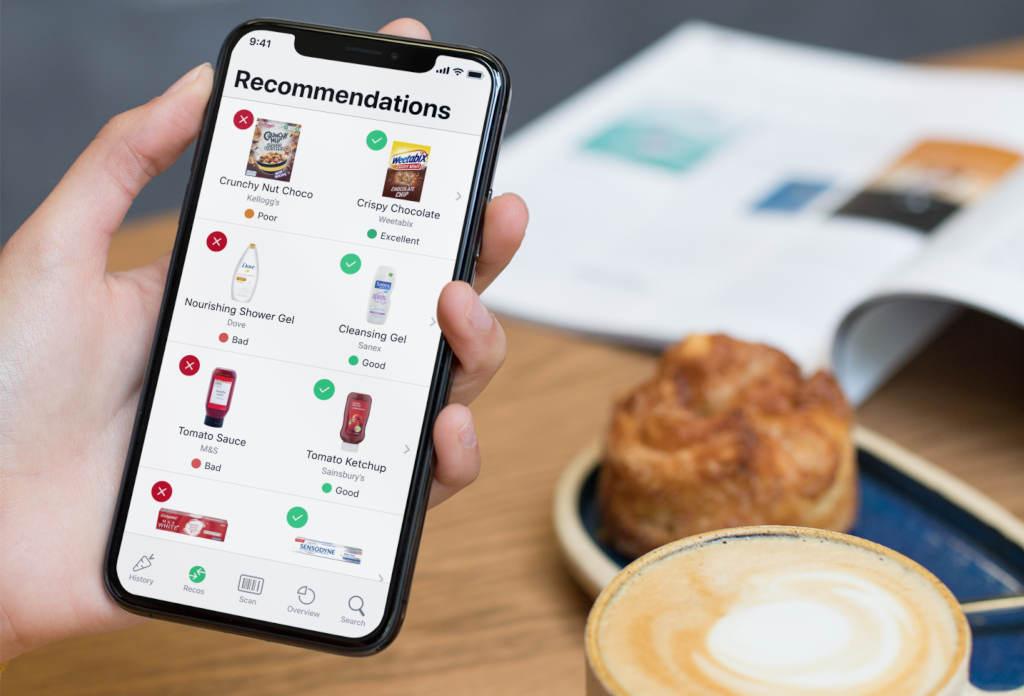Sobald der Yuka-Algorithmus ein Produkt negativ bewertet, empfiehlt die App auf Wunsch passende, als gesünder eingestufte Alternativen. (Foto: Yuka)