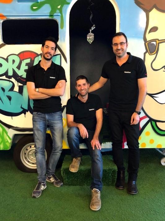 Das Management Team von WalkOut freut sich über Anerkennung für die schnelle Integration: Assaf Gedalia, Tomer Fael and Ben Pshedetzky (von links nach rechts  Foto: WalkOut).