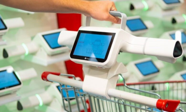 Shopic's technology enables automatic recognition of products placed into the shopping trolley. (Photo: Shopic)