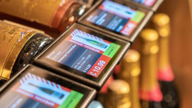 At the stores of Spirits&Wine in Latvia, shoppers can access the same information at the shelf as in the online shop. (Photo: Vivid Tech)
