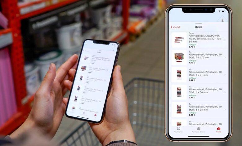 Kunden des C.J. Wigger Hagebaumarkt in Neumünster können mit ihrem Smartphone direkt zum gewünschten Produkt navigieren. (Foto: Locandis)